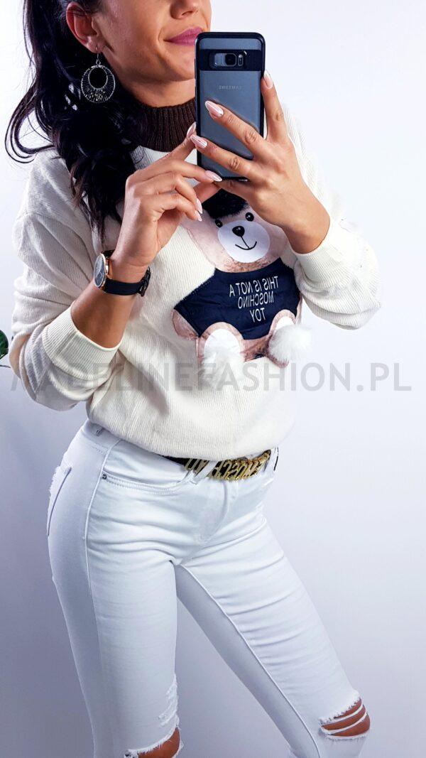 Sweter Moschino Miś Kremowy