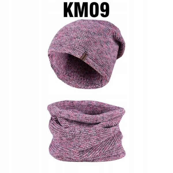 Komplet Zimowy Czapka + Komin Tuba KM09