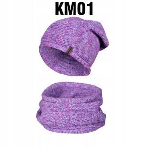 Komplet Zimowy Czapka + Komin Tuba KM01/04