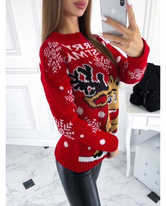 cerveny sveter s vianocnym motivom 222314 30