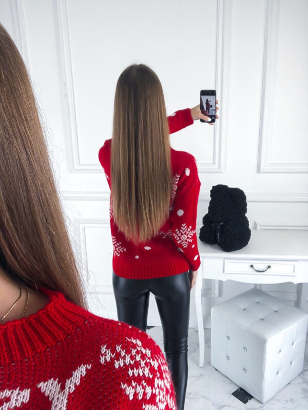 cerveny sveter s vianocnym motivom 222314 33