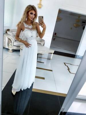 Sukienka BUGATTI DŁUGA Biała