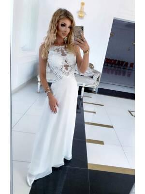 Sukienka BENTLEY DŁUGA Biała