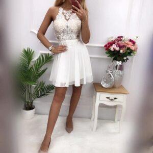 Sukienka MERCEDES Krótka Biała