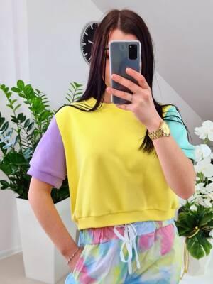 Bluzka Pastel Lumina Zółta